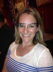 Here me wearing Andrew's Google Glass.
